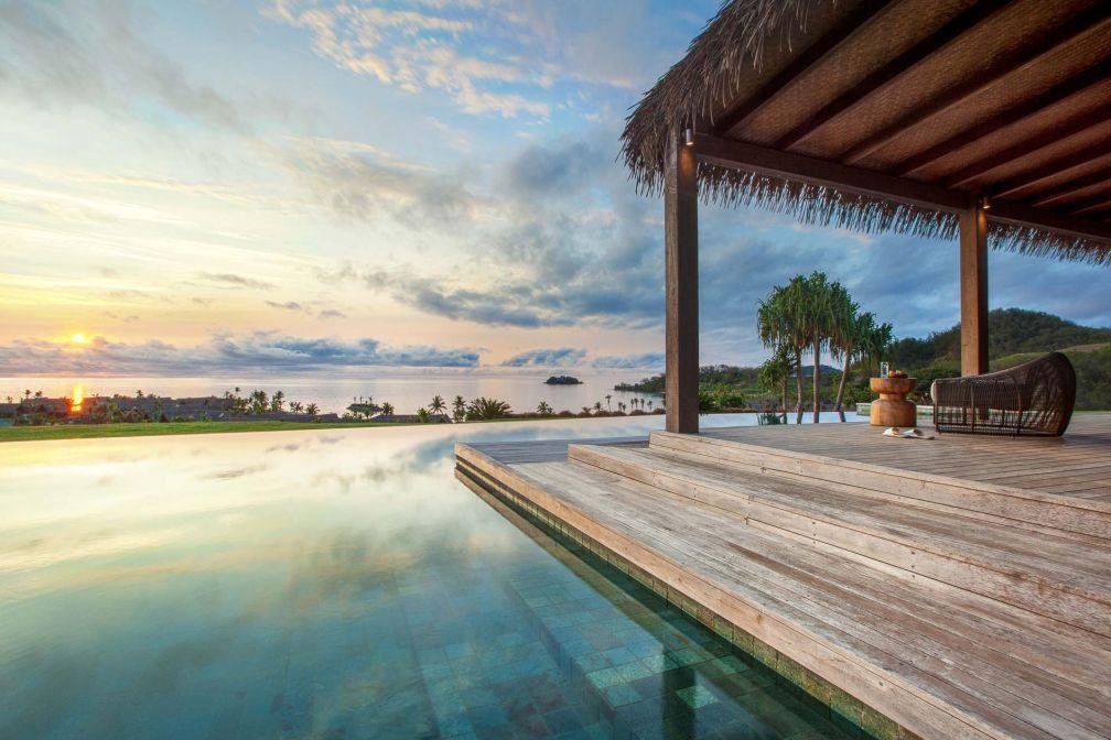 Chacune des 24 villas du Six Senses Fiji possède sa propre piscine privée ! © DR